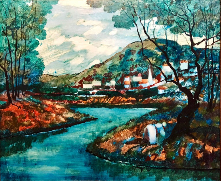 Genre: Modern Subject: Figures Medium: Oil Surface: Board Country: United States signed lower left  Donald Roy Purdy is an American painter whose work evolved through a range of styles and subjects over the course of his long career.  Born in 1924,