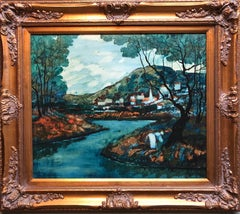 Modernist Landscape Oil Painting
