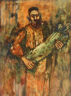 Rabbi holding Torah, Oil Painting by Donald Roy Purdy