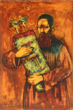 Rabbi, Oil Painting by Donald Roy Purdy