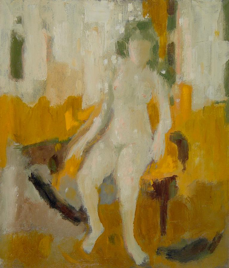 Donald S. Vogel Nude Painting - Nude with Green Hair