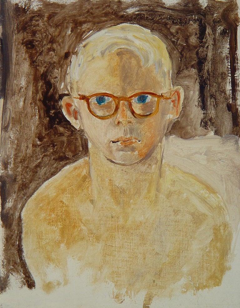 Donald S. Vogel Portrait Painting - Portrait of Kevin's playmate