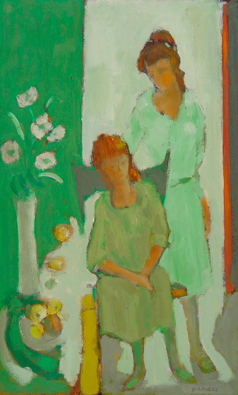 Two Girls in Green