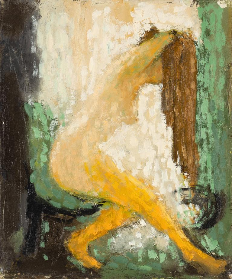 Donald S. Vogel Nude Painting - Washing Hair