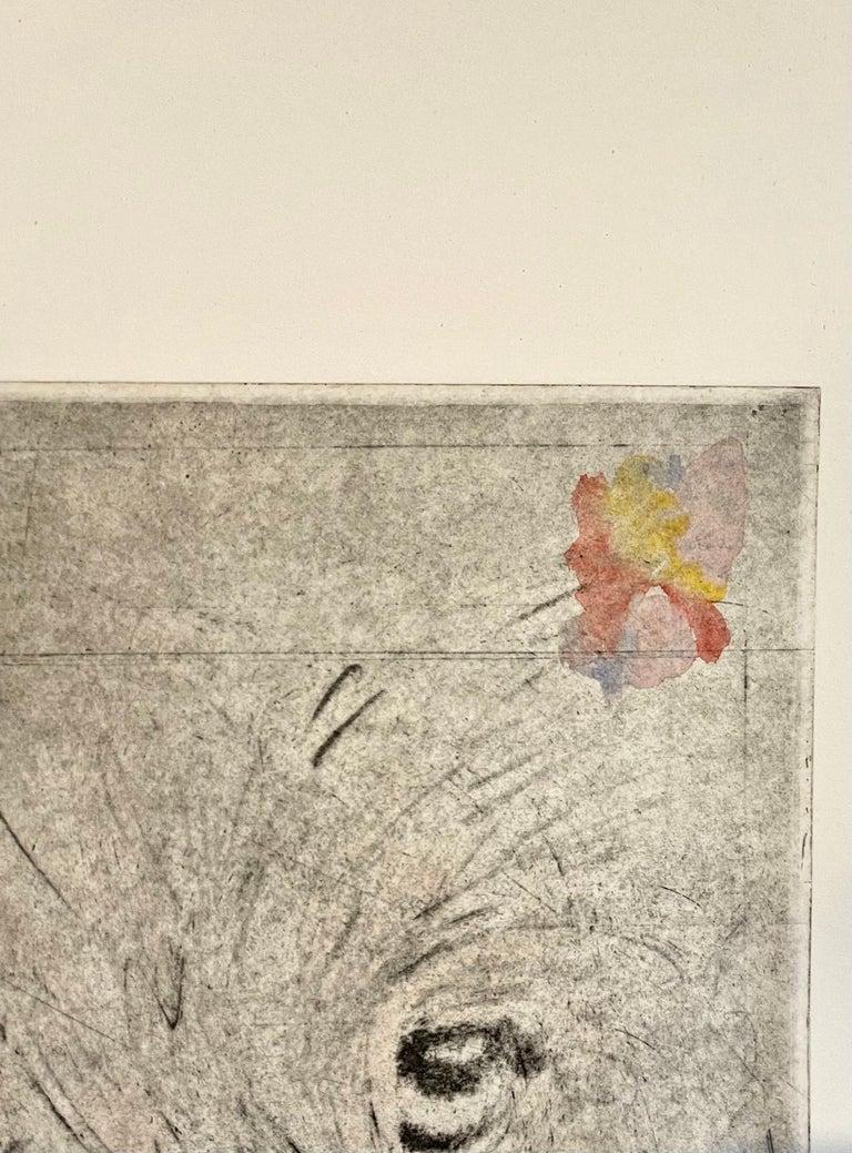 Large Donald Saff Surrealist Pop Art Aquatint Etching Wolf, Man For Sale 1