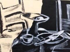 "1950s ""Still Life with Knife"" Mid Century Still Life American Modernist"