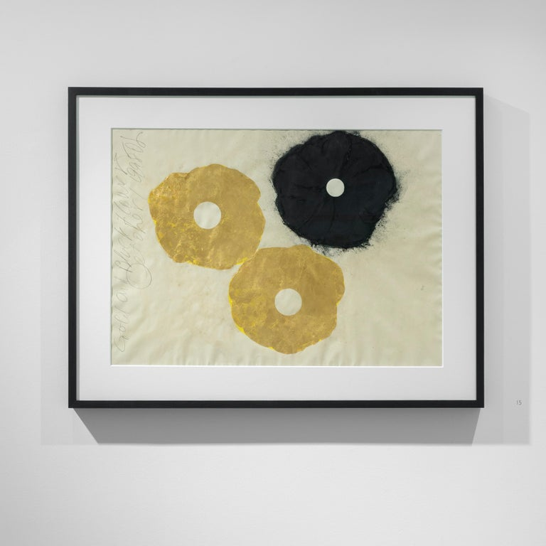 Gold and Black Flower, 1 September 1998 - Donald Sultan (Mixed Media) - Contemporary Mixed Media Art by Donald Sultan