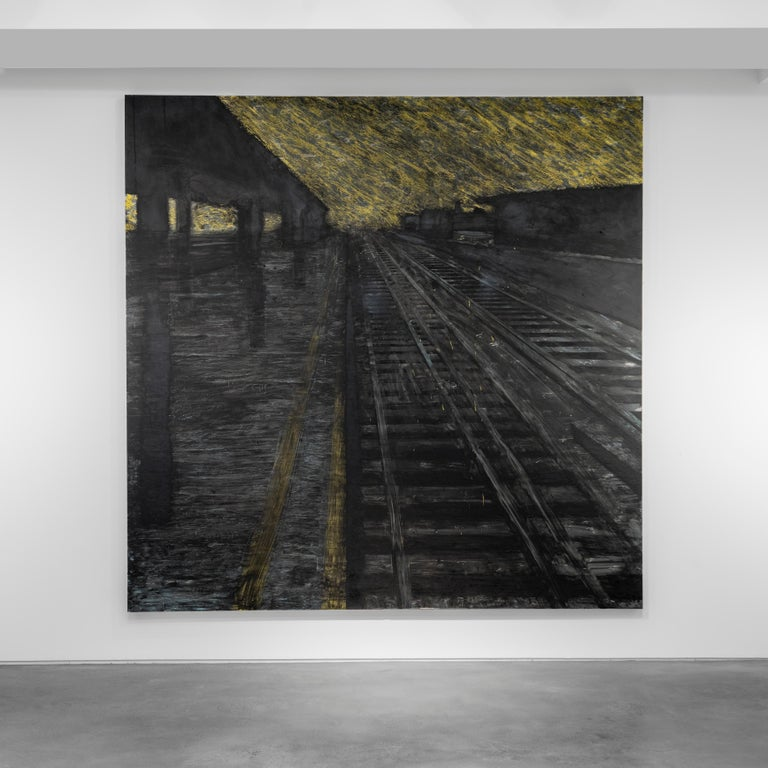 Herndon Railway, 18 August 1988 - Donald Sultan (Mixed Media) - Contemporary Mixed Media Art by Donald Sultan