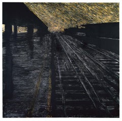 Herndon Railway, 18 August 1988 - Donald Sultan (Mixed Media)
