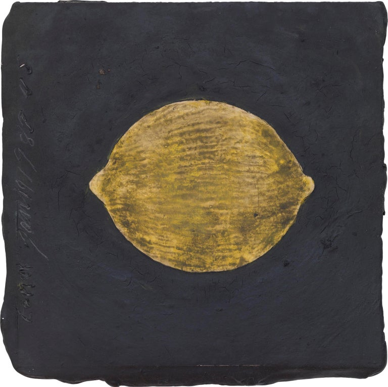 Lemon, 19 January 1989 - Donald Sultan (Mixed Media) - Mixed Media Art by Donald Sultan