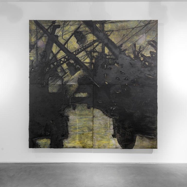 Lines Down, 11 November 1985 - Donald Sultan (Mixed Media) - Contemporary Mixed Media Art by Donald Sultan