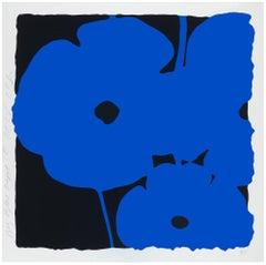 Big Blue, Donald Sultan, 2014 Color silkscreen enamel inks and tar-like texture