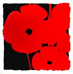 Big Red, Sept 14, 2014 (from Big Poppies), Ltd Edition Silkscreen, Donald Sultan