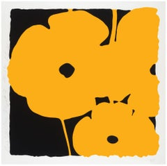Big Yellow, Donald Sultan, color silkscreen with enamel ink and tar like texture