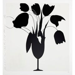 Black Tulips and Vase - Contemporary, 21st Century, Silkscreen, Limited Edition