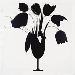 Black Tulips and Vase