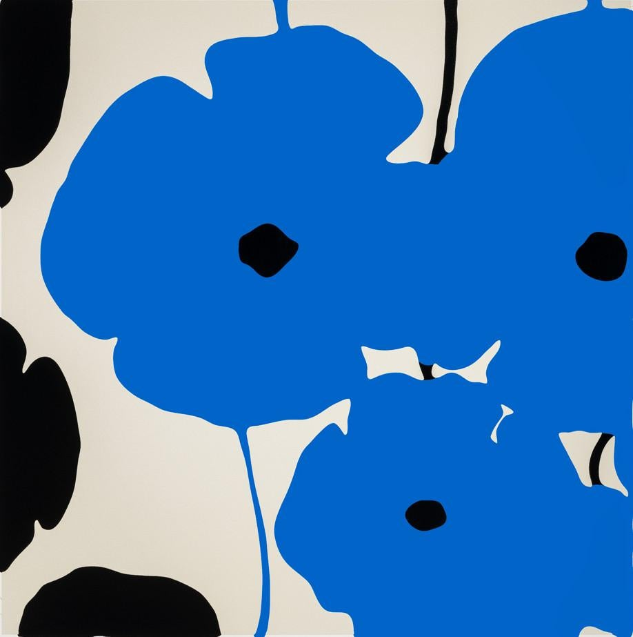 Blue and Black Poppies