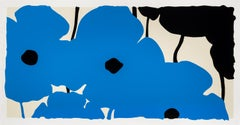 Blues and Black, 2020, silkscreen, 44x84, edition of 35