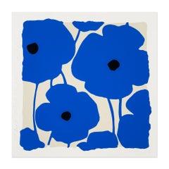 Blues, Flower Still-Life, Contemporary Art, Pop Art