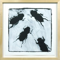 """Bugs serigraph from """"Visual Poetics: The Art of Donald Sultan"""" signed & numbered"""
