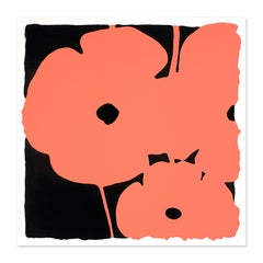 Coral Poppies, Silkscreen with Enamel Inks, Pop Art, Contemporary Art, Flowers