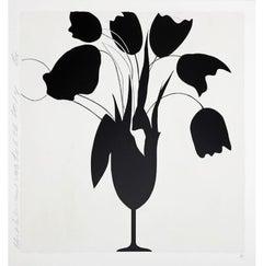 Donald Sultan, Black Tulips and Vase, Feb 26, 2014