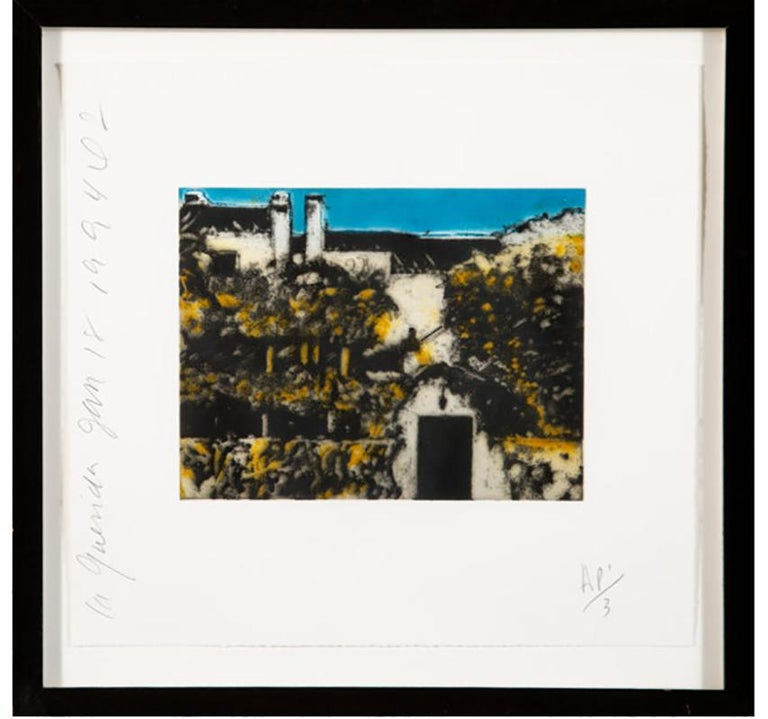 Donald Sultan Landscape Print - DONALD SULTAN  LA QUERIDA  SIGNED AND NUMBERED 1994