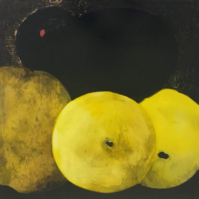 FIVE LEMONS, A PEAR, AND AN EGG - Print by Donald Sultan