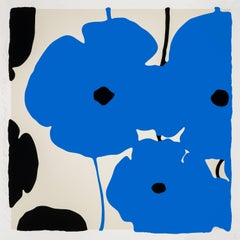 Four Poppies II, Blue