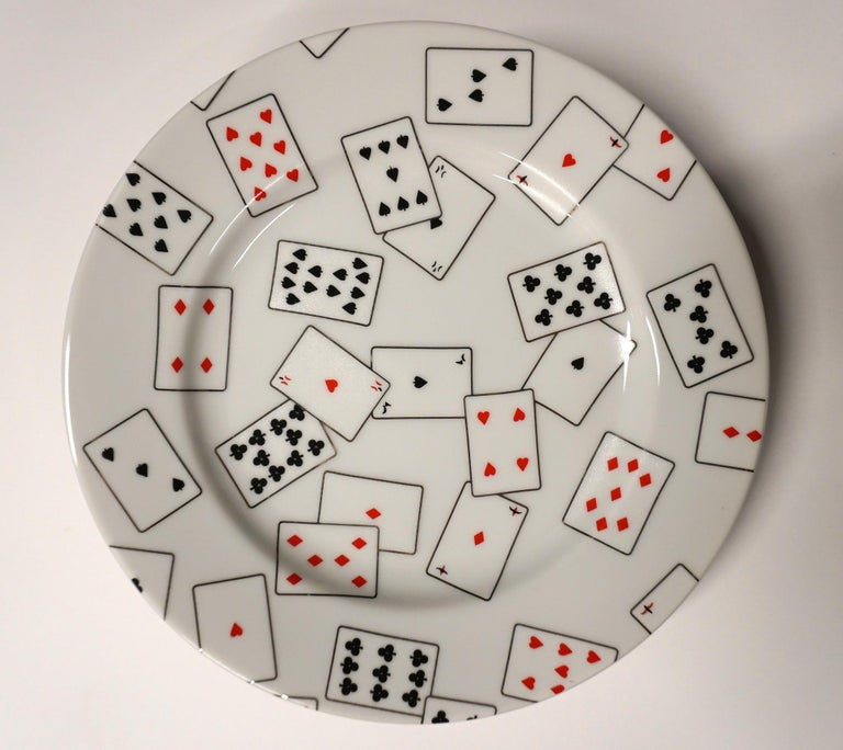 GAME SET CARDS I - plates and mugs set - Gray Interior Print by Donald Sultan