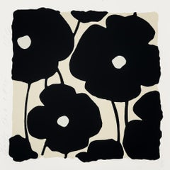 Three Poppies (Black), by Donald Sultan