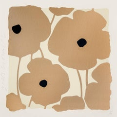 Three Poppies (Gold), Donald Sultan
