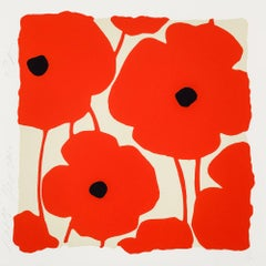 Three Poppies (Red), Donald Sultan