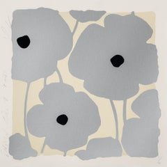 Three Poppies (Silver), Donald Sultan