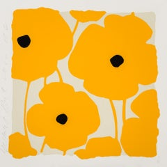 Three Poppies (Yellow), by Donald Sultan