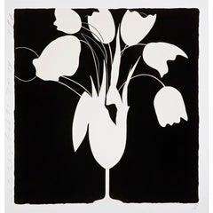 White Tulips and Vase, Feb 25 - Contemporary, 21st Century, Silkscreen, Tulips