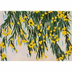 Yellow Mimosa, July 23, 2015 - Contemporary, 21st Century, Screenprint