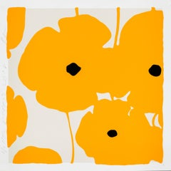 Yellow Poppies, 2018, Color silkscreen, enamel inks and flocking