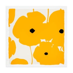 Yellow Poppies, Silkscreen with Enamel Inks, Pop Art, Contemporary Art, Flowers