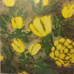 "Donald Sultan ""Yellow Roses"""