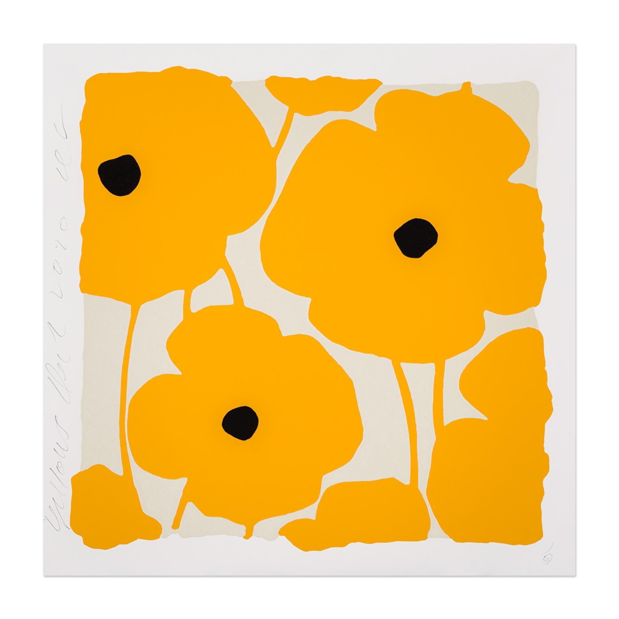 Yellows, Flower Still-Life, Contemporary Art, Pop Art