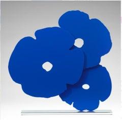 Blue Poppies - Contemporary, 21st Century, Sculpture, Poppies, Flower, Blue