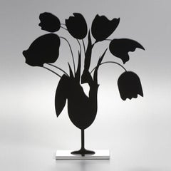 Donald Sultan, Black Tulips and Vase, April 5, 2014