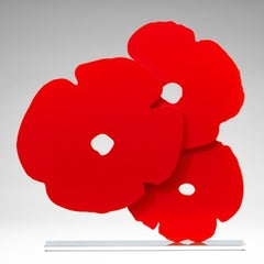 Red Poppies - Contemporary, 21st Century, Sculpture, Poppies, Flower, Red