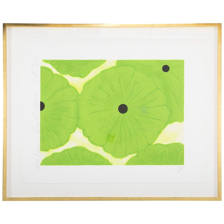 """Donald Sultan, """"Six Greens"""" Screen Print For Sale"""