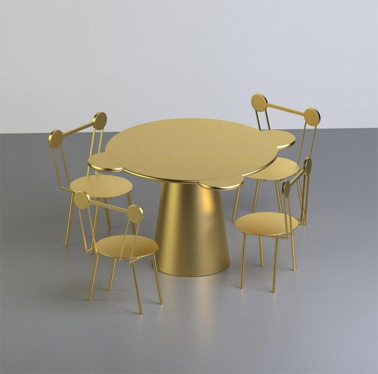 Italian Donald Table in Gold For Sale
