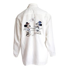"DONALDSON  ""New"" for 18th Anniversary - Mickey Mouse Linen Collection Shirt"