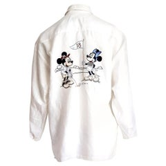 """DONALDSON  """"New"""" for 18th Anniversary - Mickey Mouse Linen Collection Shirt"""