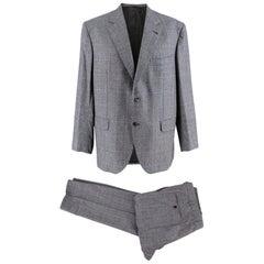 Donato Liguori Grey Single Breasted Hand Tailored Suit