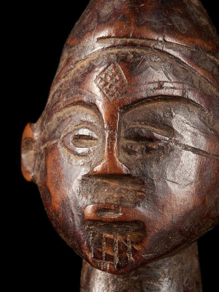 Dondo People, DRC, Wooden Statue with Scarified Body, French Private Collection For Sale 1